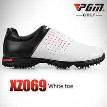 цена на PGM golf shoes Waterproof Microfiber Leather Men's Breathable Golf Sneakers Non-skid Shoe Spikes Sports Shoes 39-44