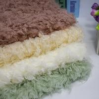 Big fur, steamed hair, curly hair, beach wool