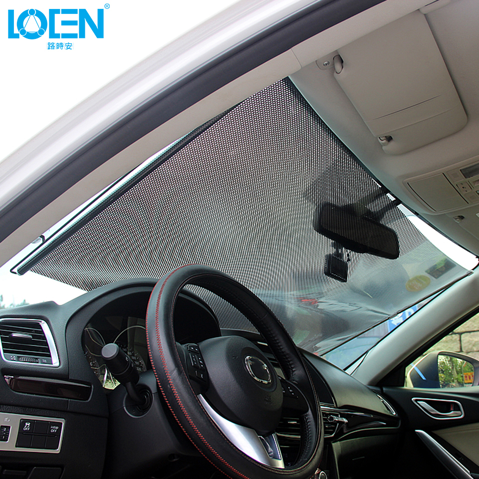 Portable car window retractable sunshade windshield - Parasol coche cars ...