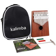 Kalimba Thumb Piano 17 Keys With Mahogany Wooden With Bag, Hammer And Music Book, Perfect For Music Lover, Beginners, Children(China)