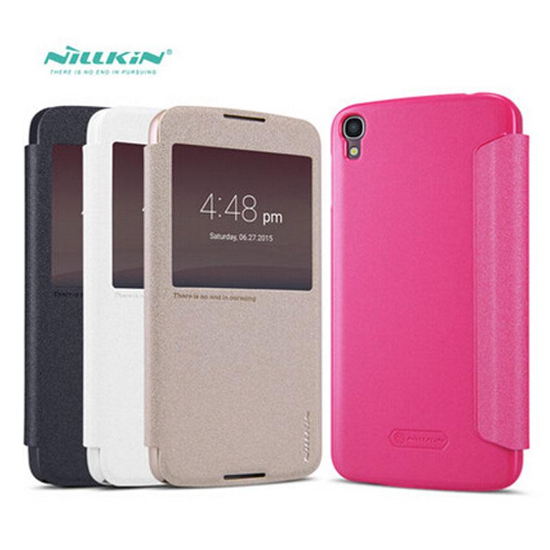 Alcatel Idol 3 Case NILLKIN Sparkle Series Flip Cover PU Leather Case For Alcatel Idol 3 5.5 Inch