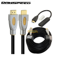 DANSPEED New 100Ft 30M HDMI Male to Male Version 2.0 Cable Metal Head 3D 4K 2K 2160P + Extension HDMI Repeater Adapter Converter