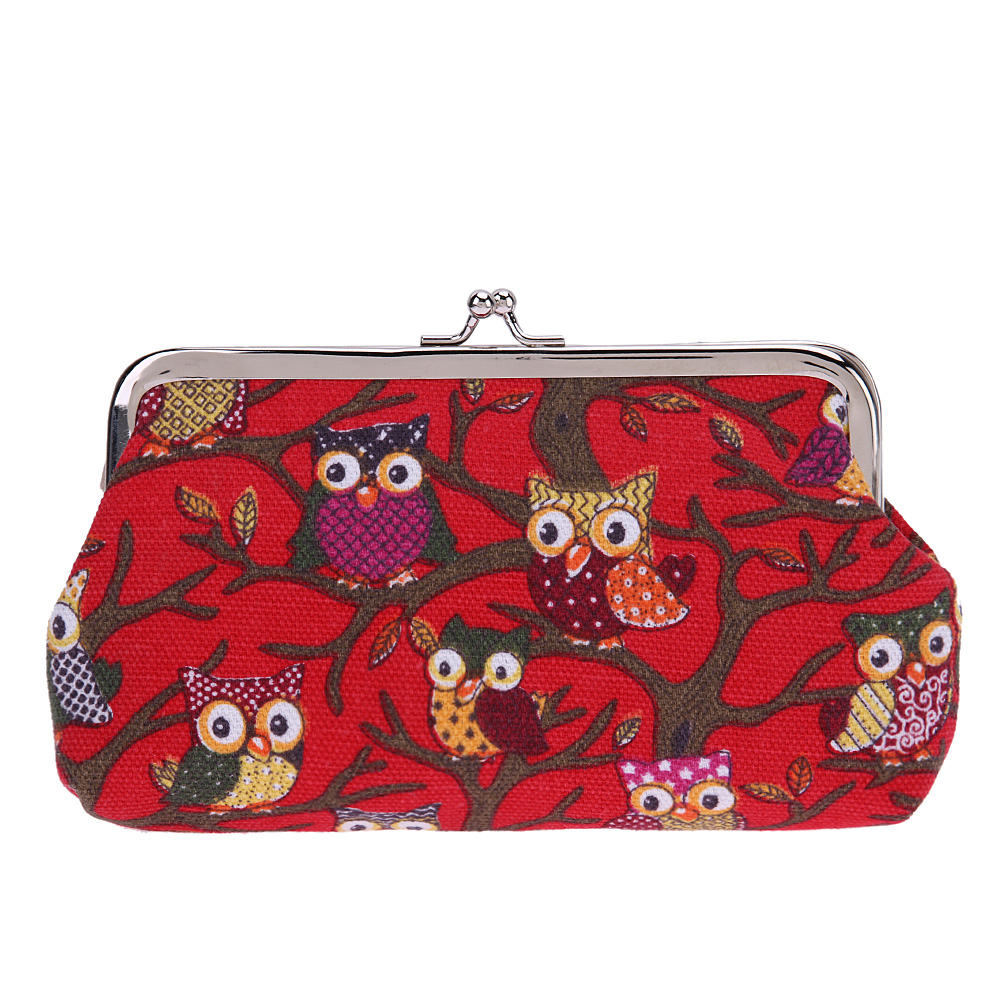 Coin Bag Owl Canvas Change Purse Clutch Coin Bag Cartoon Handbag Change Money Purse Ladies Small Money Bag Hasp Coin Money Bag