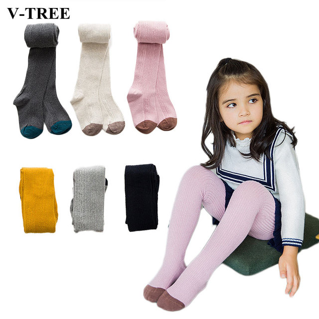 fee24c921a6 V-TREE 2018 fashion tights for girls cotton child pantyhose candy color  ballet tights girls warm dance baby stockings