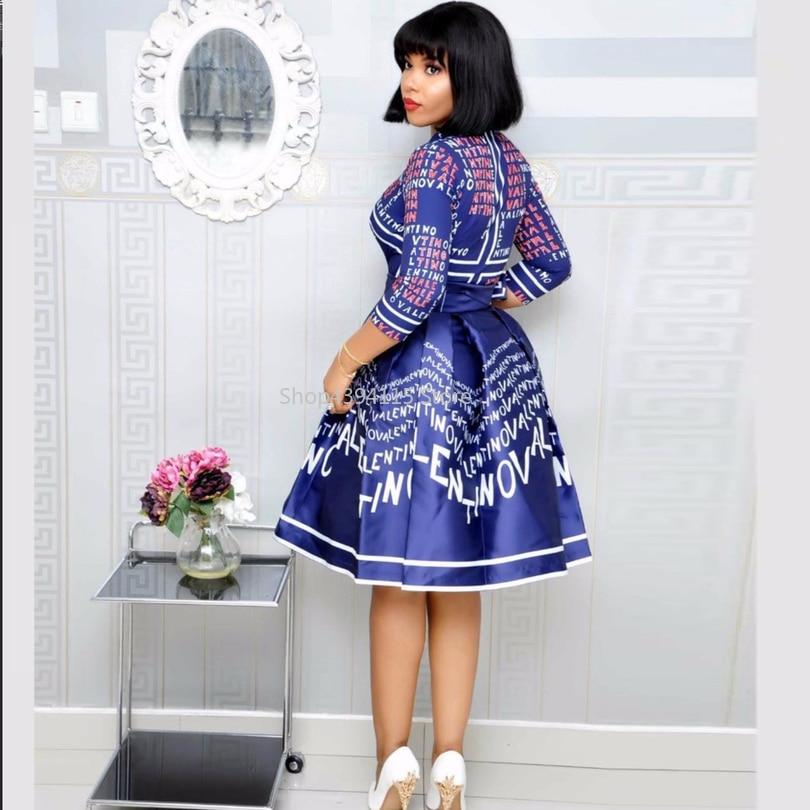 2019 sommerkleid für frauen damen lange party kleid afrikanische kleider für mädchen dashiki design knie länge kleid afrikanische kleidung femme