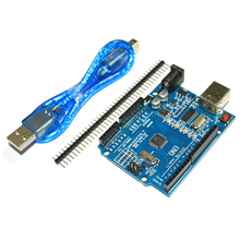 high quality One set UNO R3 (CH340G) MEGA328P for arduinos UNO R3 + USB CABLE ATMEGA328P-AU Development board