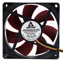 1Pcs 8cm 80mm 8025 80x80x25mm 3P DC 12V Cooling Fan for Computer Case CPU Cooler Radiator