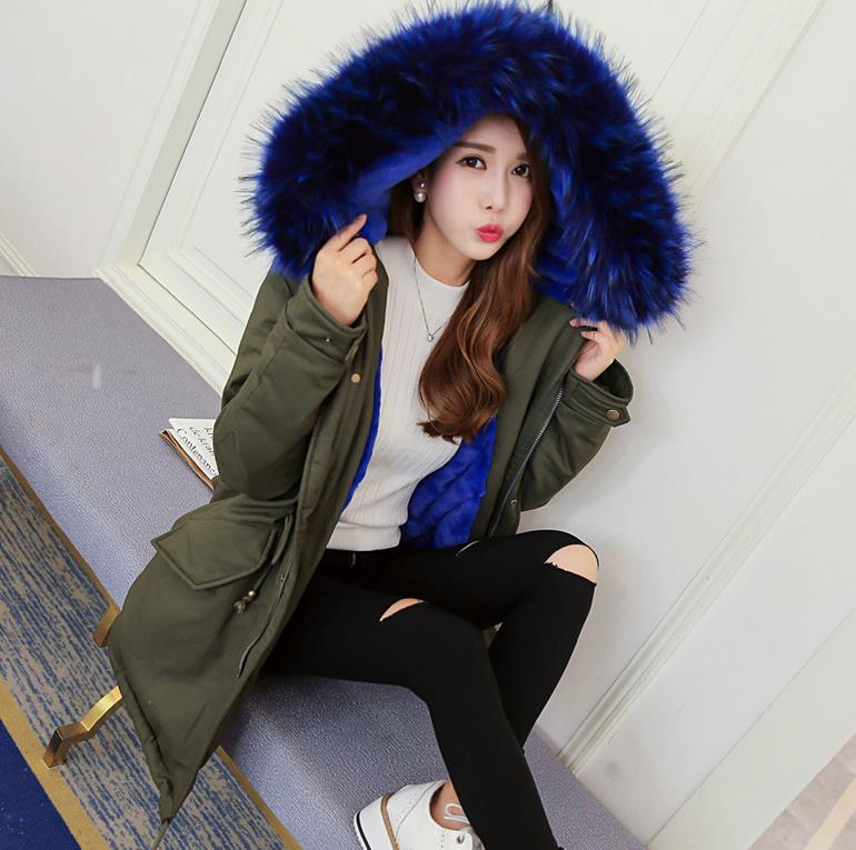 2017 winter jacket women wadded jacket female outerwear hooded coat long cotton padded fur collar parkas plus size 6826-1 winter cotton outerwear women super fur hooded wadded jacket female medium long padded coat thicken slim parka plus size