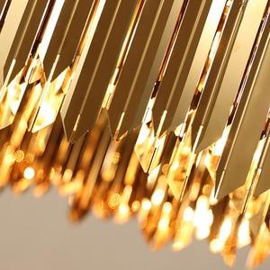 Image 5 - Нержавеющая Сталь современная люстра светодиодный светильник приостановление на дистанционном управлении, столовая гостиная лампа