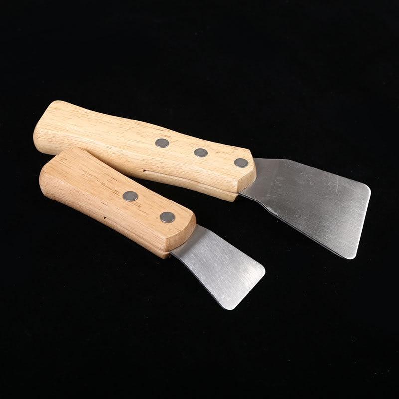 2 шт./упак. большой + маленький шпатель Совок с деревянной ручкой потолочной пленки лопатой шпатель аксессуары для сварки гарпун