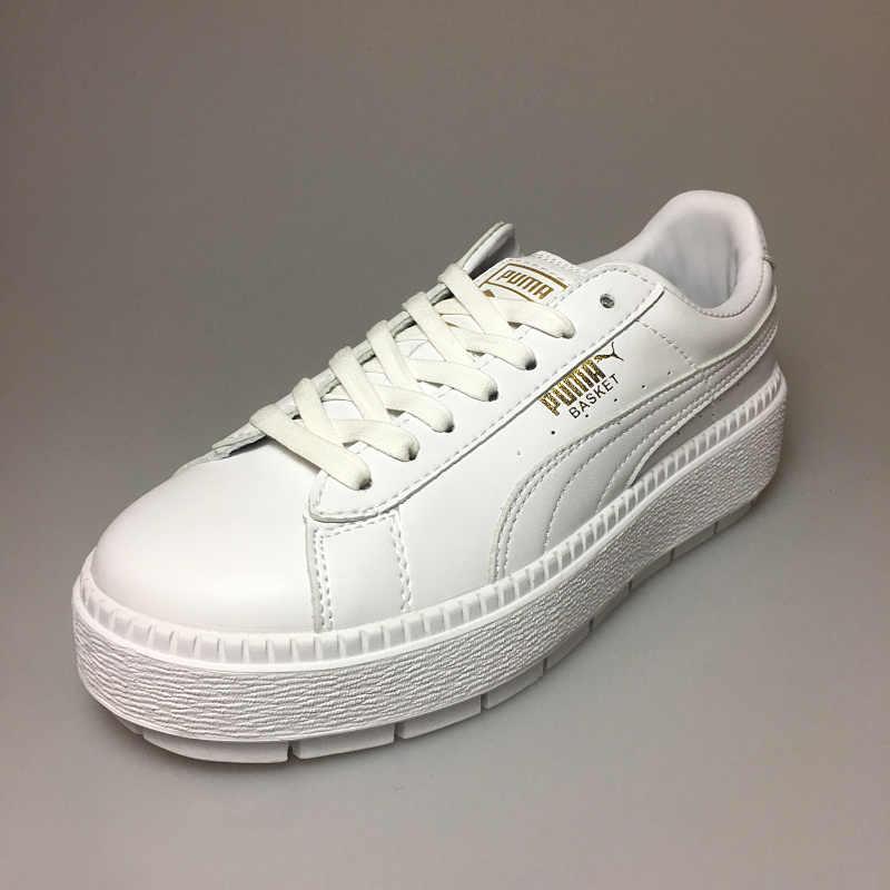 4da77dd3300 ... PUMA FENTY Suede Cleated Creeper Women s First Generation Rihanna  Classic Basket Suede Tone Simple Badminton Shoes ...