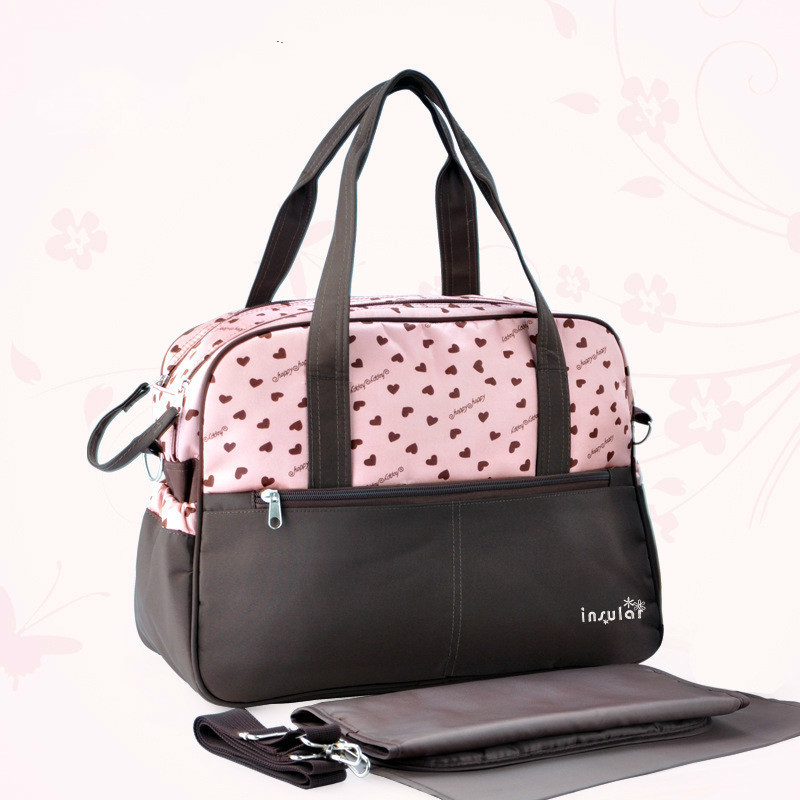 printing multifunctional and large capacity mothers bag with one shoulder slanting mother baby articles