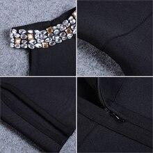 Adyce 2017 New Women Winter Bandage Dress Black Halter Luxury Diamonds Vestidos Sleeveless Split Celebrity Evening Party Dresses