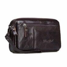 100% Echtes Leder-mann Business Cltuch Taschen Handy Fall Zigarette Geldbörse Beutel Erste Schicht Rindsleder Männlichen Handliche Tasche Brieftasche