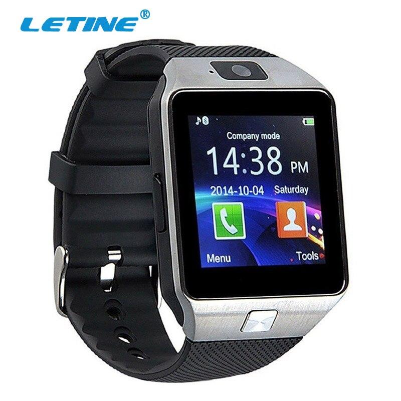 Galleria fotografica Letine Montre Smart Watch Numérique DZ09 Électronique Poignet montres Hommes Bluetooth SIM Carte Sport <font><b>Smartwatch</b></font> Caméra Pour iPhone Android Téléphone