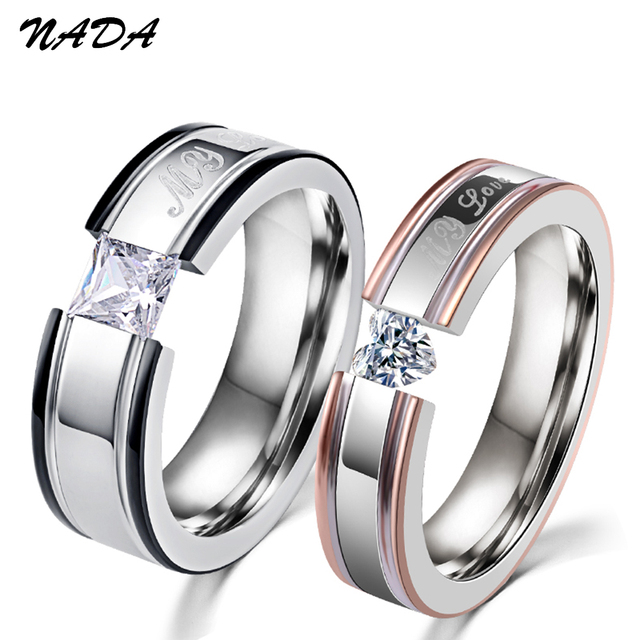 2017 Trendy My Love Wedding Ring Clic Engagement Women Aaa Cz Rings For Men