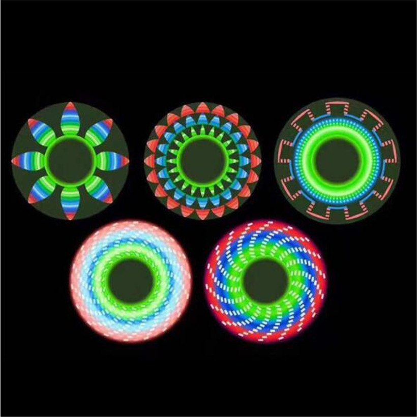 New led 18 pattern flash font abs fidget spinner hand spinner spiner decompression toy edc finger