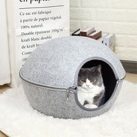 Ball Pet Cat Beds Nest Cat House Basket Pet Cave Funny Egg Type Pet Nest Cat House All Season Round Kitten Hole Comfortable Warm