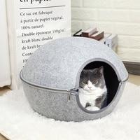 Ball Pet Cat Beds Nest Cat House Basket Pet Cave Funny Egg Type Pet Nest Cat House All Season Round Kitten Hole Comfortable Warm