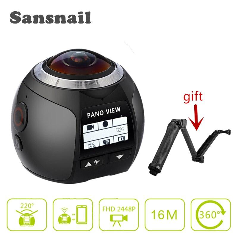Sansnail V1 camera 360 Action Camera Wifi 2448 2448 Ultra HD Mini Panorama Camera 360 Degree