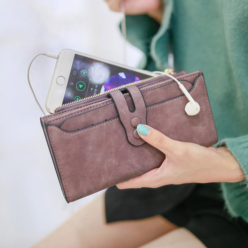 Large Capacity Women's Wallet Women Purses Fashion Hasp Zipper Long Wallet Female Coin Purse Card Holder Ladies Money Clutch Bag
