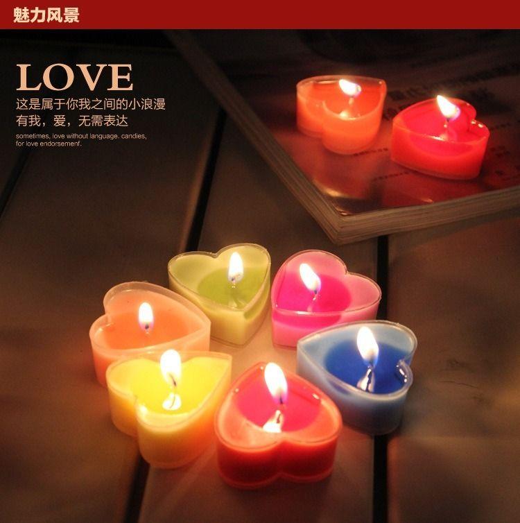 9pcs Set Heart Romantic Tea Lights Home Decor Scented Party Night Candles Set China