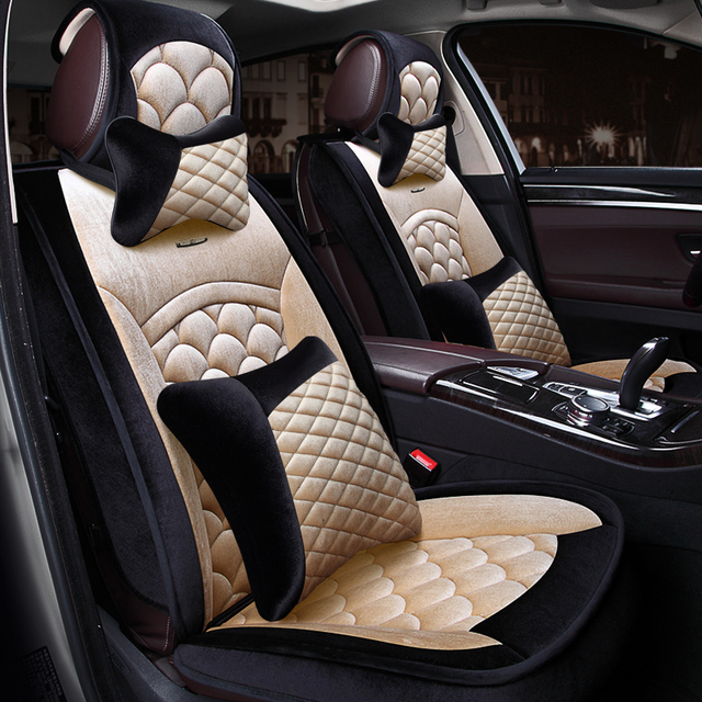 2017 Fish Scale Patterns Universal Auto Car Seat Covers 2 Front And Back