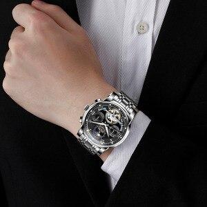 Image 5 - DOM جديد اليابان الميكانيكية ساعة المعصم التلقائي ساعة رجالي العلامة التجارية الفاخرة ساعة جلدية عادية مقاوم للماء الرجال M 75D 1MH