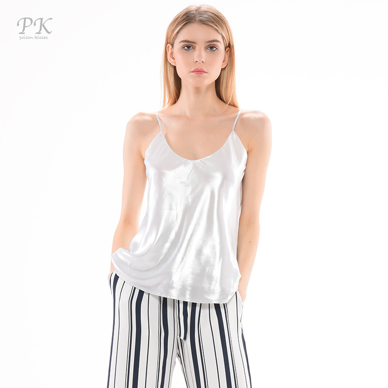 Pk silver tank top women metallic sleeveless summer print for Silver metallic shirt women s