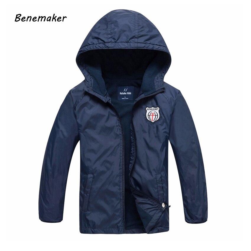 Benemaker Fleece Outdoor Jackets For Boys Autumn Sports