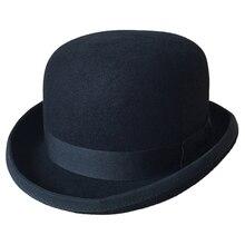 Britischen Stil Woolen Caps Männer Frauen Halloween Cosplay Magier Wollfilz Kappe Vintage Partei Kirche Hüte Fedora Verpackung Mit Box