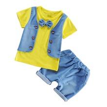BibiCola lato noworodka zestaw ubranek dla chłopca T-shirt + krótkie spodnie 2 sztuk zestawy strojów dla niemowląt ubrania dla dzieci zestawy ubrań dla niemowląt tanie tanio Na co dzień O-neck Swetry children boys clothing set spandex COTTON Chłopcy REGULAR Pasuje prawda na wymiar weź swój normalny rozmiar