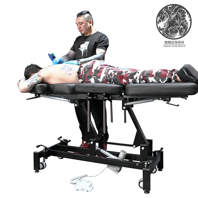 Top Grade Electric Tattoo Bed Electric Tattoo Tattoo Bed Electric Lift Bed Jiaxing Fine Carving Tattoo Equipment0