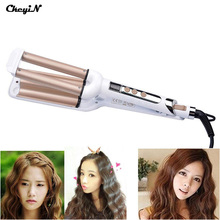 Fast Heating Ceramic Styler Hair Waver Curler Triple Barrel Waver With LCD Display Curling Iron Styling Tools for Women's Beauty