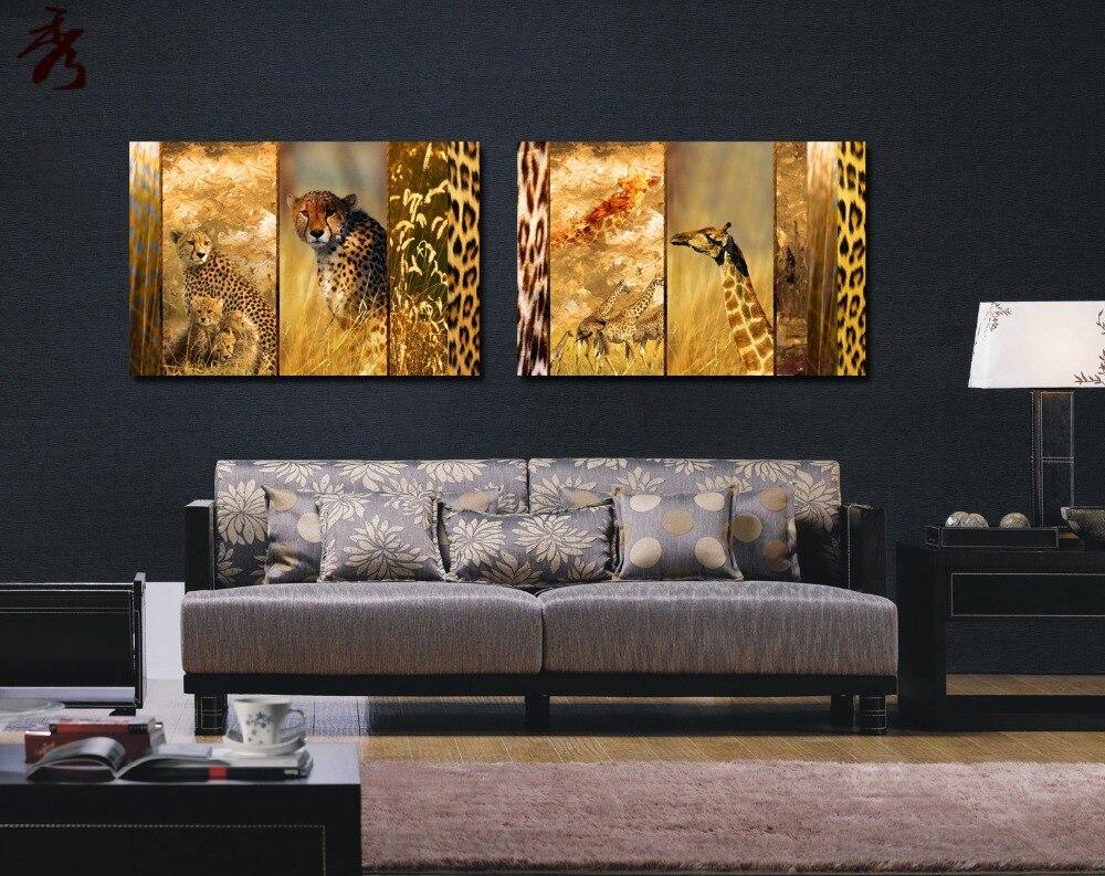 16x24 leopard jirafa Lienzo Sin Marco de Fotos Abstracta Moderna ...
