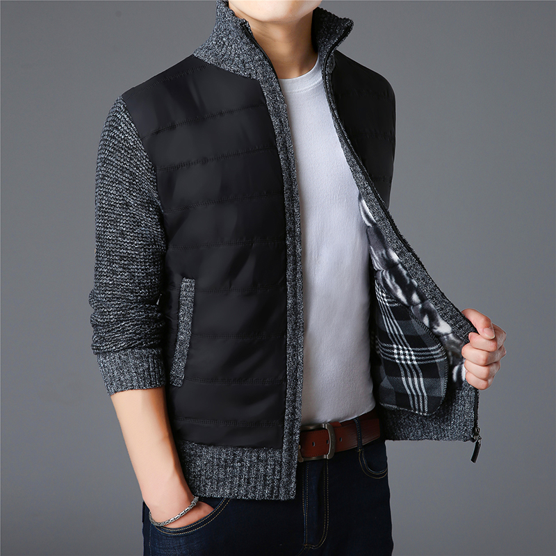 2019 New Fashion Brand Sweaters Mens Cardigan Thick Slim Fit Jumpers Knitwear Zipper Warm Winter Korean Style Casual Men Clothes