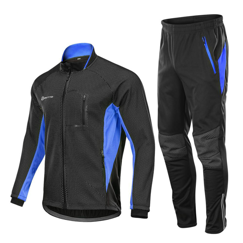 Detail Feedback Questions about Winter Fleece Cycling Sets Bicycle Thermal  Jacket Men s Bike Trousers ropa ciclismo Winter Cycling Clothing Sportswear  on ... 7f48bc675