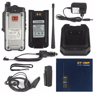Image 5 - 2 יחידות Baofeng GT 3WP IP67 עמיד למים חזיר להקה כפולה VHF UHF שני רדיו דרך מכשיר קשר עם כבל USB תכנות רכב מטען