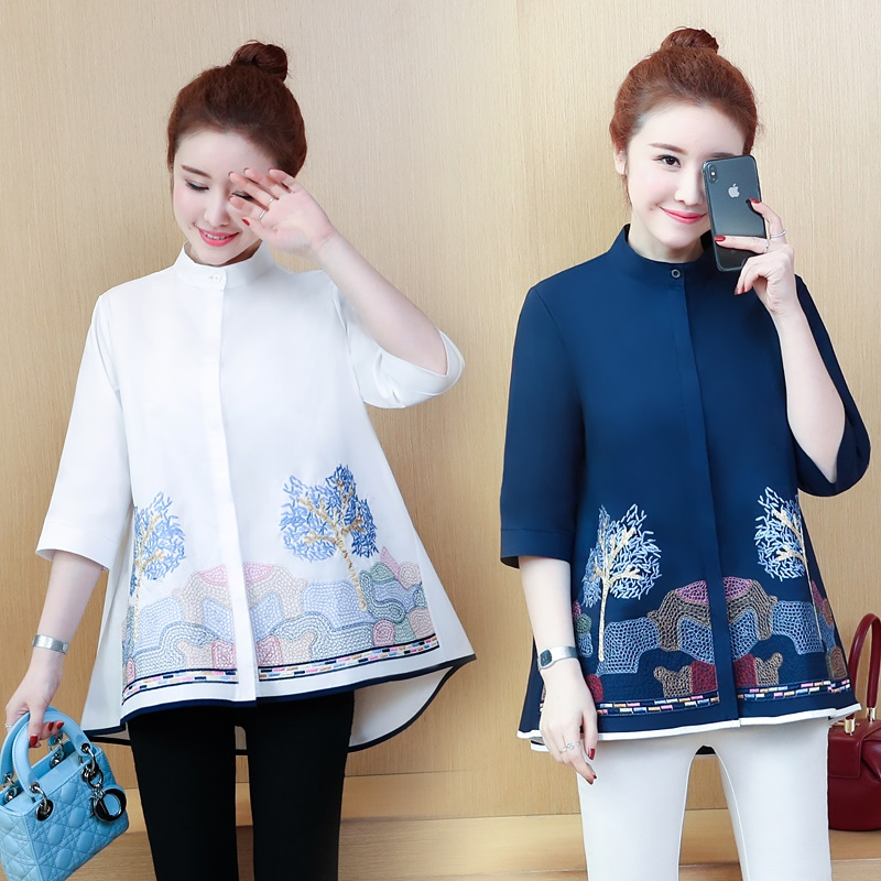 Women Tops Summer 2019 Oriental Blouse Spring Chinese Style Shirt Peasant Womens Tops And Blouses Japanese Streetwear Dd2023 A Great Variety Of Models Women's Clothing