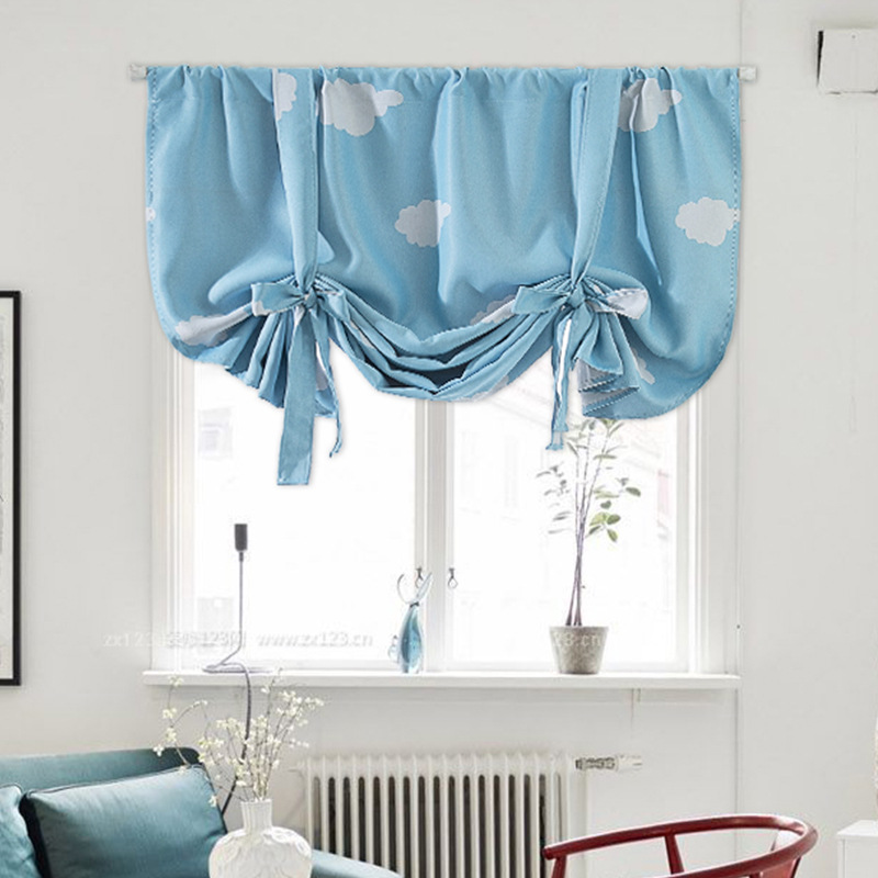 Roman Curtains For Windows Best Home Decoration Blue Clouds Pink Blackout Curtains For Kids Room 117x160cm