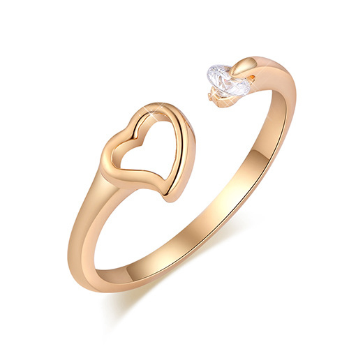 Fashion Jewelry Little Finger Rings Size 6 9 Korean Heart Style