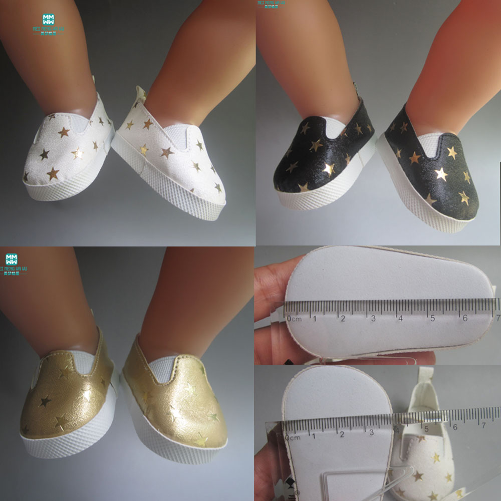 Fashion white sports boots shoes for dolls fits 43 cm Zapf dolls baby born and 18