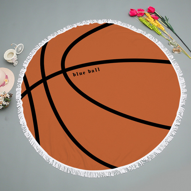 Tels Beach Towel Mat Basketball Printed Football Blanket Picnic Bath Cover