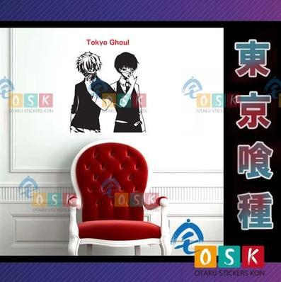 Pegatina Anime Cartoon Car Sticker Tokyo Ghoul Kaneki Ken Vinyl Wall Stickers Decal Decor Home Decoration