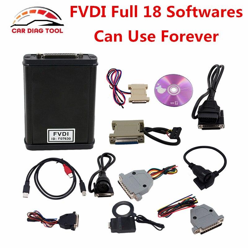 Цена за 2017 FVDI полная версия (в том числе 18 программного обеспечения) FVDI ABRITES полный командира без ограничено во времени FVDI диагностический OBD2 сканер