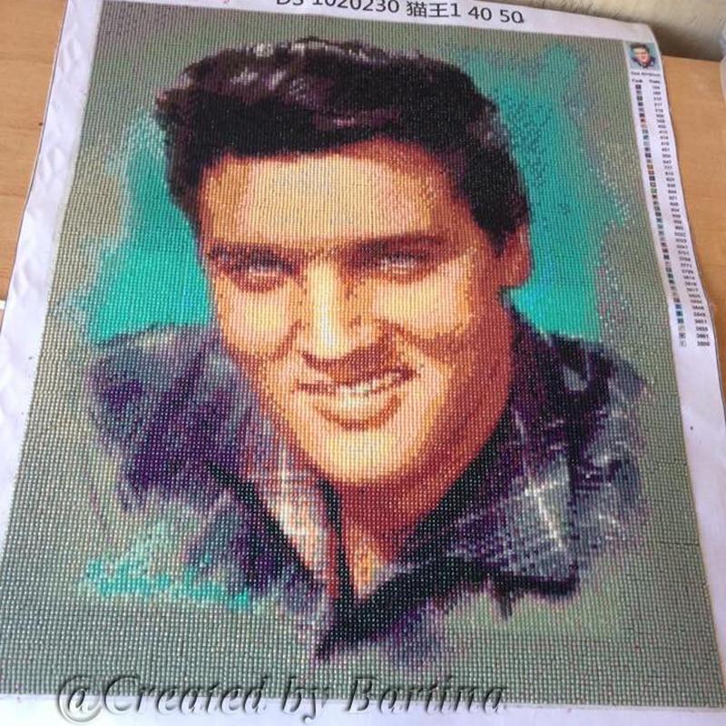 Elvis Photo Full Drill Mosaic Rhinestone 5D DIY Алмаз - Өнер, қолөнер және тігін - фото 1