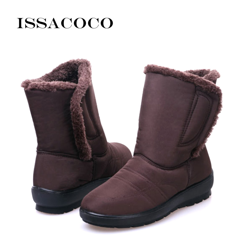 ISSACOCO Snow Shoes For Ladies Snow Boots Water Proof Snow Boots Kids Snow Boots Girl Baby Casual Boots Antiskid Waterproof цена