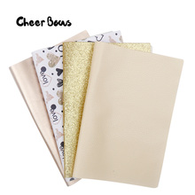 4 Pcs/Set Gold Series Fabric Sheet Set Multiple Leather Shiny Material DIY Hair Bows Festival Party Decor Materials 22*30CM