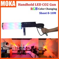 Handheld Led co2 gun cryo LED CO2 Jet machine Pistol Special Effects co2 Cannon guns free co2 gas hose