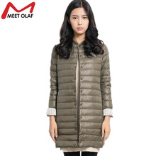 Women's Down Jackets Winter Coats For Women Long Ultralight Female Thin Down Cotton Padded Parka abrigos mujer invierno YL009